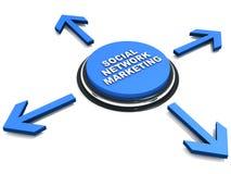 Sociale netwerk marketing stock illustratie