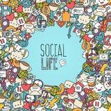 Sociale netwerkachtergrond Stock Foto