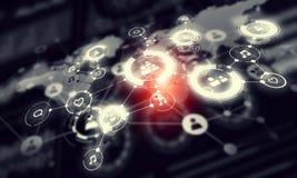 Sociale netwerkachtergrond Gemengde media Stock Afbeelding