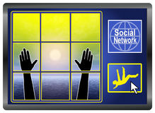 Sociale Netwerkdepressie vector illustratie