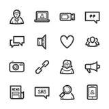 Sociale Netwerkenpictogrammen – Bazza-reeks Royalty-vrije Illustratie