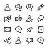 Sociale Netwerkenpictogrammen – Bazza-reeks Stock Afbeeldingen