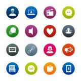 Sociale Netwerkenpictogrammen – Kirrkle-reeks Royalty-vrije Illustratie