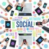 Sociale netwerkgemeenschap Royalty-vrije Stock Afbeeldingen