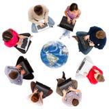 Sociale netwerkleden hierboven worden gezien die van Stock Afbeelding