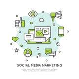 Sociale Netwerkmedia die Concept op de markt brengen Royalty-vrije Stock Afbeelding