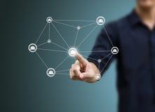 Sociale netwerkstructuur Royalty-vrije Stock Afbeeldingen