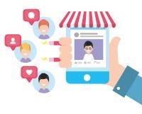 Sociale netwerktechnologie stock illustratie