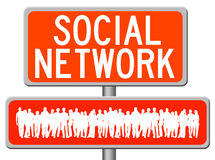 Sociale network sign Stock Images