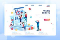 Sociale Presentatie voor het Huren Werkgelegenheid Infographic royalty-vrije illustratie
