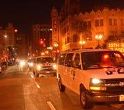 2015 Sociale Protesten in Oakland Van de binnenstad Stock Foto