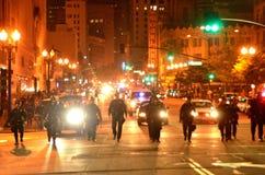 2015 Sociale Protesten in Oakland Van de binnenstad Royalty-vrije Stock Foto's