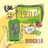 Sociale toespraakbel Stock Afbeeldingen