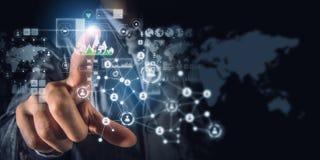 Sociale verbinding als bedrijfshulpmiddel Gemengde media Royalty-vrije Stock Afbeelding