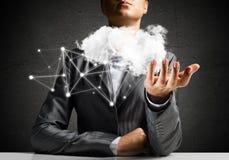 Sociale verbinding en voorzien van een netwerkconcepten Stock Afbeelding