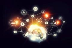 Sociale voorzien van een netwerkachtergrond Stock Afbeelding
