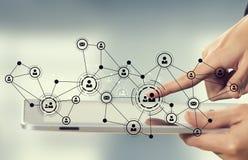 Sociale voorzien van een netwerkverbinding Gemengde media Royalty-vrije Stock Afbeeldingen