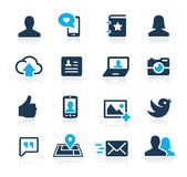 Sociale Webpictogrammen Azure Series royalty-vrije illustratie