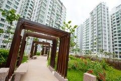 Sociale woningbouw in Singapore Stock Afbeelding