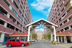 Sociale woningbouw in Singapore Stock Foto's