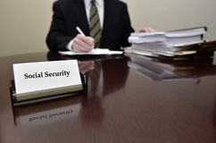 Sociale zekerheidarbeider Stock Fotografie