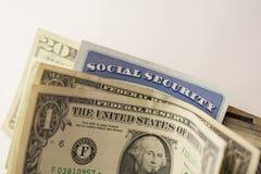 Sociale zekerheidkaart stock foto