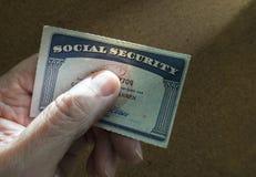 Socialförsäkringkort royaltyfria foton
