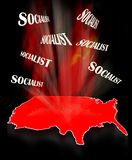 Socialism in America. Socialism in the whole America in 2019 royalty free stock image