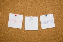 Socialism or capitalism Royalty Free Stock Images