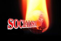 Socialism on Fire stock illustration