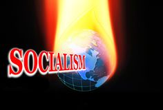 Socialism on Fire royalty free illustration