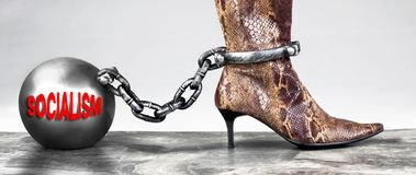 Socialism the new ball and chain royalty free stock photography
