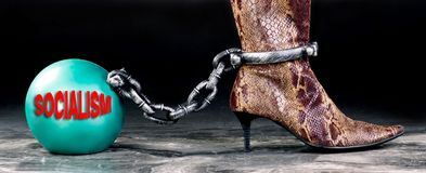 Socialism the new ball and chain royalty free stock photo