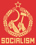 Socialism poster royalty free illustration