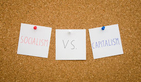 Socialism vs capitalism Royalty Free Stock Photography