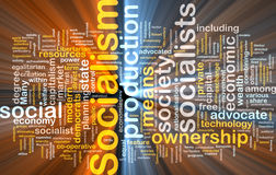 Socialism word cloud glowing Stock Photography