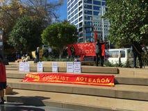 Socialist Aotearoa Banner Royalty Free Stock Image