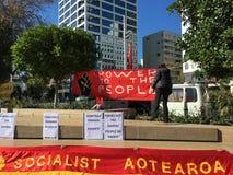 Socialist Aotearoa Banner Stock Photography