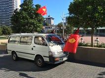 Socialist Aotearoa Banner Stock Photo
