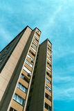 Socialist architecture example, tall residential skyscraper buil Royalty Free Stock Image