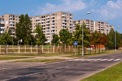 Socialist Block Flats Neighborhood Royalty Free Stock Photo