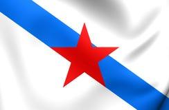 Socialist Nationalist Galician Flag. Close Up Stock Photo