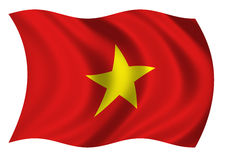 Socialist Republic of Viet Nam Flag of. Flag of Socialist Republic of Viet Nam Fluttering gently in the breeze Stock Photography