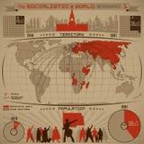 Socialistic infographic Стоковое Изображение RF