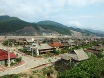 Socialistische stad in Vietnam royalty-vrije stock fotografie