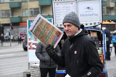 SOCIALISTISK STÄLLNING DANMARK FÖR ARBETARNYHETERNA PAPERSS arkivfoto