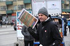 SOCIALISTISK STÄLLNING DANMARK FÖR ARBETARNYHETERNA PAPERSS fotografering för bildbyråer