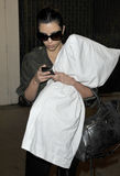 Socialite Kim Kardashian is seen at LAX. Ju Stock Images