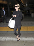 Socialite Nicky Hilton sister of Paris at LAX Stock Photography