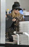 Socialite Nicole Richie at LAX airport. Stock Images